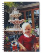 Melody By The Fountain Spiral Notebook