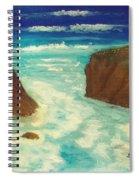 Mendocino Waves Spiral Notebook