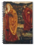 Merlin And Nimue 1861 Spiral Notebook