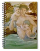 Mermaid With Her Offspring Spiral Notebook