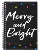 Merry And Bright 2- Art By Linda Woods Spiral Notebook