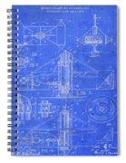 Merry Go Round Amusement Carousel Vintage Patent Blueprint Spiral Notebook