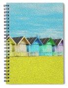 Mersea Island Beach Hut Oil Painting Look 2 Spiral Notebook
