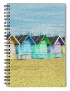 Mersea Island Beach Hut Oil Painting Look 3 Spiral Notebook