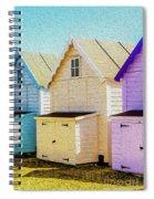Mersea Island Beach Hut Oil Painting Look 6 Spiral Notebook