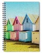 Mersea Island Beach Hut Oil Painting Look 7 Spiral Notebook