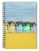 Mersea Island Beach Huts, Image 1 Spiral Notebook