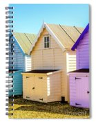 Mersea Island Beach Huts, Image 6 Spiral Notebook
