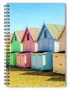 Mersea Island Beach Huts, Image 7 Spiral Notebook