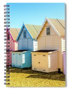Mersea Island Beach Huts, Image 9 Spiral Notebook