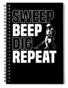 Metal Detector Beach Pun Apparel Spiral Notebook
