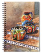 Mexican Pottery Still Life Spiral Notebook
