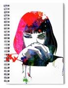 Mia Snorting Watercolor Spiral Notebook