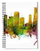 Miami Florida Skyline Panoramic Spiral Notebook