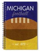 Michigan Football Minimalist Retro Sports Poster Series 001 Spiral Notebook