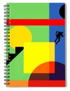 Mid Century Modern Abstract Over The Edge 20190106 Horizontal Spiral Notebook