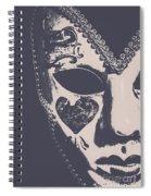 Midnight Frill Spiral Notebook