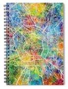 Milan Italy City Map Spiral Notebook