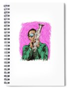 Miles Davis - An Illustration By Paul Cemmick Spiral Notebook