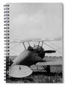 Military Biplane - Marine Flying Field - 1918 Spiral Notebook