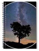 Milky Way Heart Tree Circle Spiral Notebook
