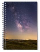 Milky Way In Val D'orcia Spiral Notebook