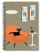 Mini Gravel Art Orange Chair Spiral Notebook