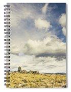 Minimal Mountaintop Meadow Spiral Notebook
