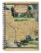 Minneapolis St. Paul Map Vintage Custom Map Art Hand Painted Spiral Notebook