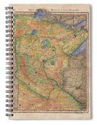 Minnesota Historic Wagon Roads Hand Painted Spiral Notebook