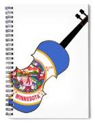 Minnesota State Fiddle Spiral Notebook