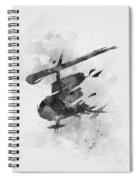 Miss Saigon Black And White Spiral Notebook