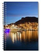 Monaco At Twilight Spiral Notebook