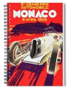 Monaco Grand Prix 1930, Vintage Racing Poster Spiral Notebook