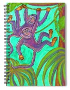 Monkeys On Creepers Spiral Notebook