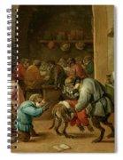 Monos En La Escuela   Spiral Notebook