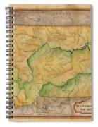 Montana Custom Map Art Rivers Map Hand Painted Spiral Notebook