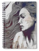 Monument - Red 'n Blue - Sleeping Beauty, Woman With Skyline Tattoo And Bird Spiral Notebook