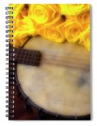 Moody Banjo And Yellow Roses Spiral Notebook
