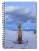 Moon And Soaptree Yucca, White Sands Spiral Notebook