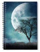 Moon Blues Spiral Notebook