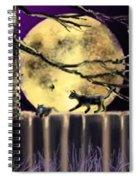 Moon Cats Spiral Notebook