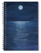 Moon Glow On The River Spiral Notebook