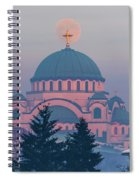 Moon In The Cross Of The Magnificent St. Sava Temple In Belgrade Spiral Notebook