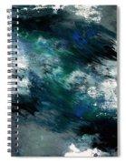 Moonlight Ocean- Abstract Art By Linda Woods Spiral Notebook