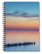 Moonset On Lake Superior Spiral Notebook