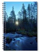 Morning Has Broken At Hepokongas Waterfall Spiral Notebook