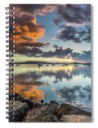 Morning Reflections Waterscape Spiral Notebook
