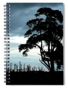 Morning Sky Blues Spiral Notebook