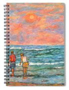 Morning Stroll At Isle Of Palms Spiral Notebook